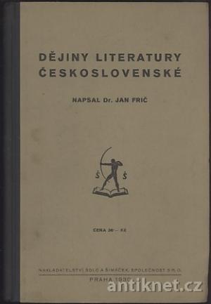 Dějiny literatury československé ANT