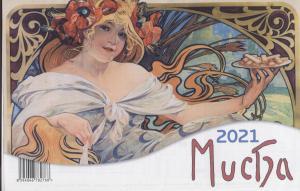 Kalendář Mucha 2021 Stolní